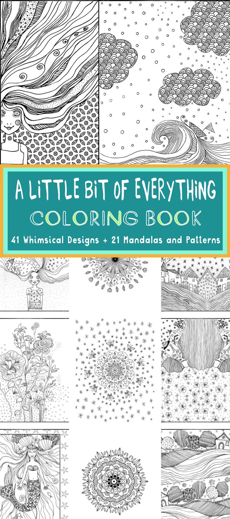 Whimsical designs coloring book - A Peek Inside The Book And Free Coloring Pages