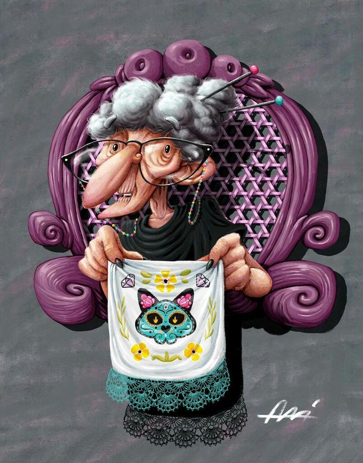 Grandma by Ali del Rey Ilustra #alidelreyilustra #grandma