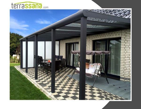 Die 25+ Besten Ideen Zu Terrassenüberdachung Aluminium Auf ... Alu Und Holz Terrassenuberdachungen Geschutzt