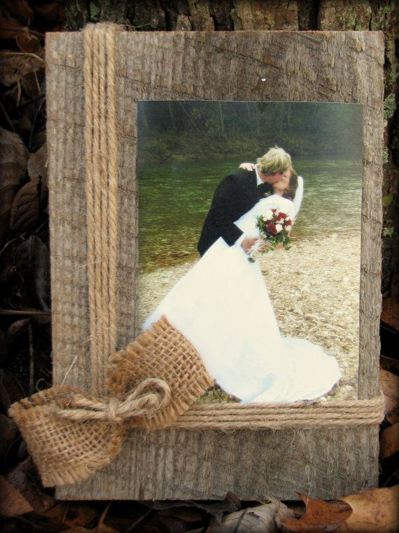 Barnwood Picture Frame, 4x6 Picture Frame, Country Decor Picture Frame