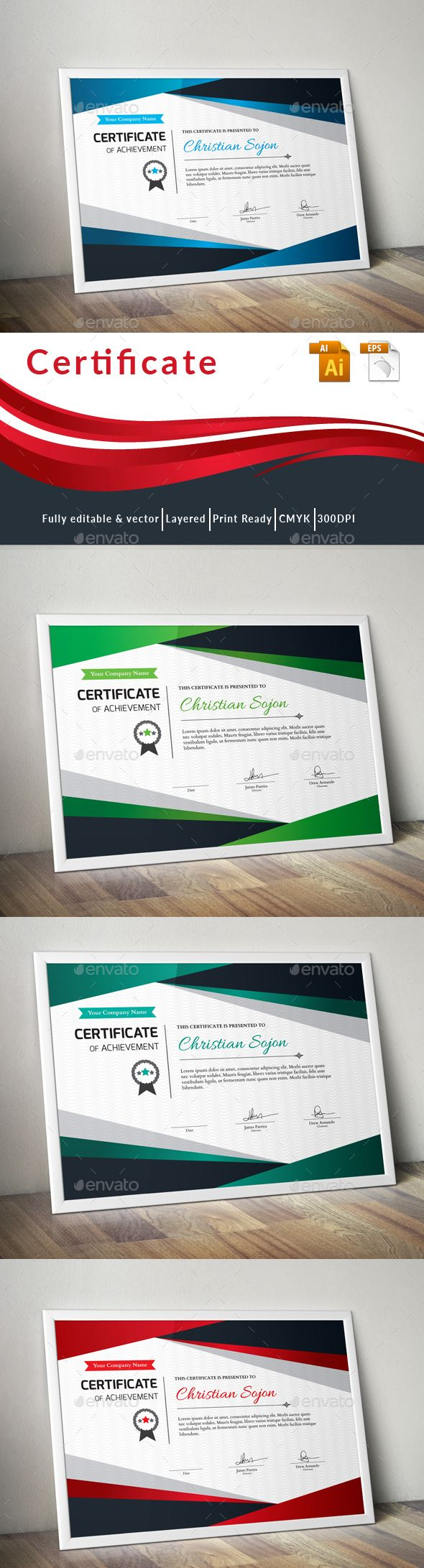#Certificate - Certificates Stationery Download here: https://graphicriver.net/item/certificate/19394922?ref=alena994