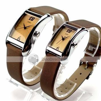 Lovers Rectangular Quartz Couple Watches Set