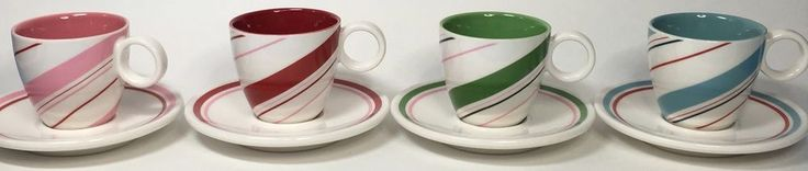 Starbucks Christmas Holiday Espresso Coffee Mugs 4 Cups Saucers Candy Stripe | Collectibles, Advertising, Food & Beverage | eBay!