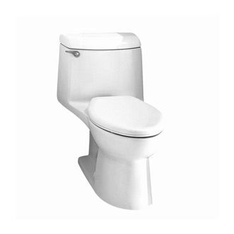 Champion 4 Elongated One-Piece Toilet shown in White (020)