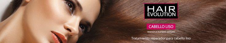 Hair Evolution Liso   Tratamiento reestructurante capilar, repara el cabello seco y dañado. Aporta brillo y controla el encrespado. Protección térmica. Mantiene el peinado durante más tiempo. El cabello permanece liso con movimiento. Deja el cabello suave y sedoso.
