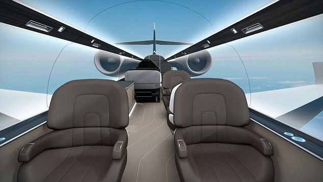 Ultimate window seat: The design gives passengers the feeling that they¿re flying in a tra...