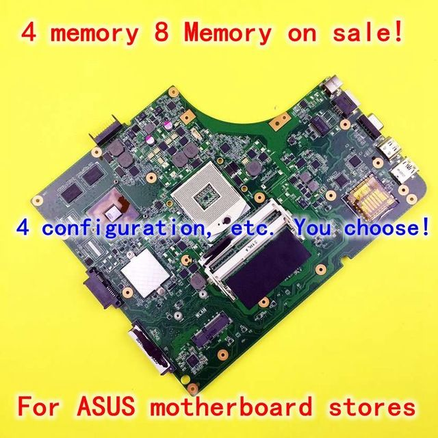 For Asus X53S A53S K53SJ K53SC P53S K53SV 1G rev 3.0 or 3.1 laptop motherboard mainboard 4 memory GT520M in stock free shipping US $65.08 /piece Specifics Products Status 	Stock Chipset Manufacturer 	Intel With CPU 	No Ports 	USB 2.0,USB 3.0,Ethernet,Wifi CPU Type 	Intel Form Factor 	ATX Memory Type 	DDR3 Memory channel 	Double Maximum Ram Capacity 	8 GB Graphics Card Type 	Non-Integrated Supports Display Output 	Yes Package 	Yes  Click to Buy :http://goo.gl/f7KovS