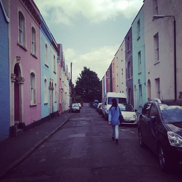 Montpelier, Bristol pastel houses