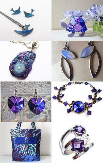 Purple And Blue Treasures by Bev on Etsy--Pinned with TreasuryPin.com
