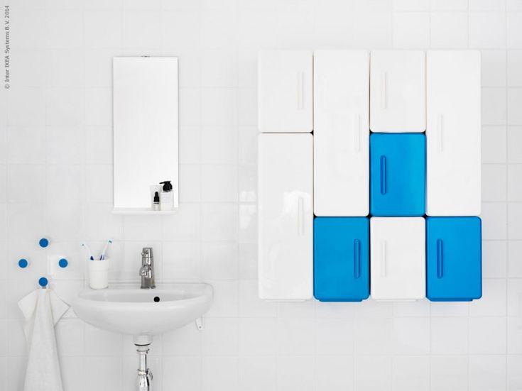 New Ikea Lejen bathroom storage system.