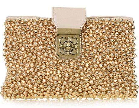 Chloé: Fashion, Purses Handbags Etc, Handbags Purses, Clutches, Chloe, Leather Clutch, Accessories, Beaded Leather, Elsie Beaded