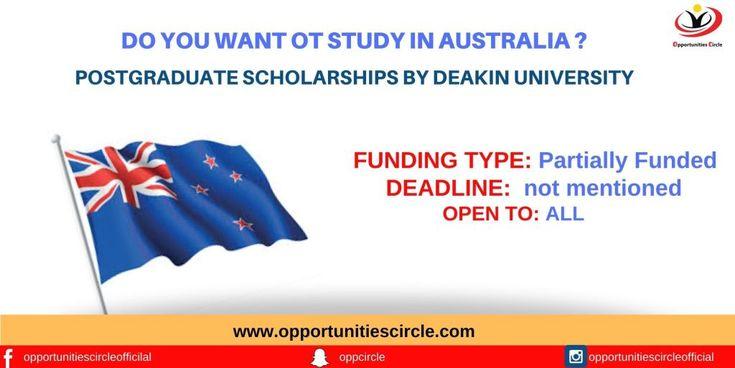 DEAKIN UNIVERSITY SCHOLARSHIP IN AUSTRALIA, 2021 Benefits ...