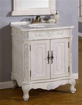 29 Inch Single Sink Vanity with White Granite Top | Single ...