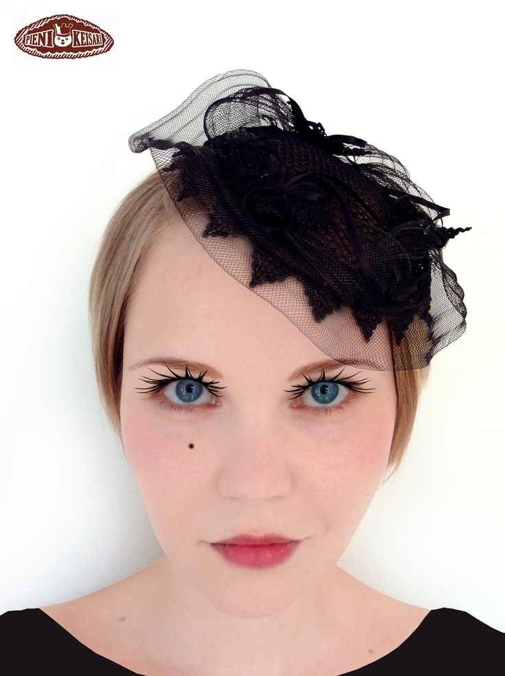 Little black hat for a wedding guest  http://www.facebook.com/pages/pieni-keisari/79394388494