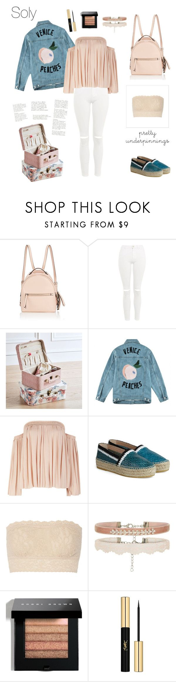 """""""Soly: off the shoulder"""" by solyslstore ❤ liked on Polyvore featuring Fendi, Topshop, PBteen, Être Cécile, Elizabeth and James, Hanky Panky, Bobbi Brown Cosmetics and Yves Saint Laurent"""