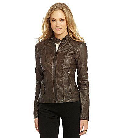 M&s leather jacket
