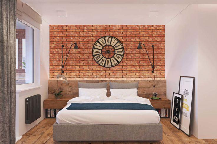 Фотография: Спальня в стиле Лофт, Квартира, Проект недели, Одинцово, Geometrium, Московская область – фото на InMyRoom.ru