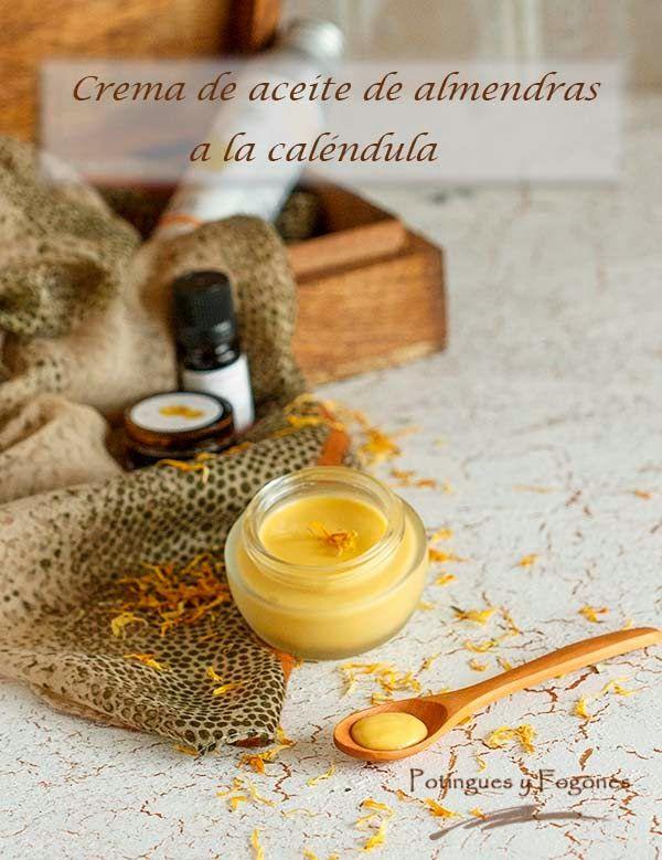 POTINGUES Y FOGONES: Crema reparadora de aceite de almendras a la calén...