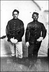 NWMP constables in dress uniform.