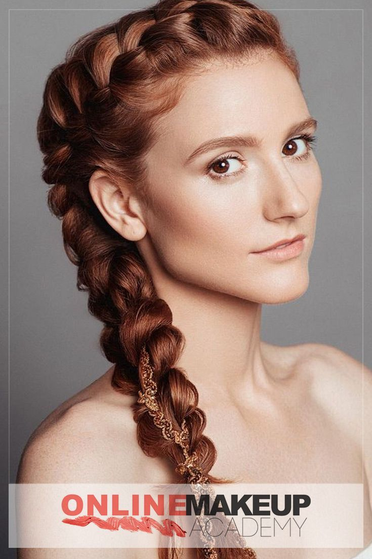 A Dutch Braid Hairstyle Created By Online Makeup Academy For The