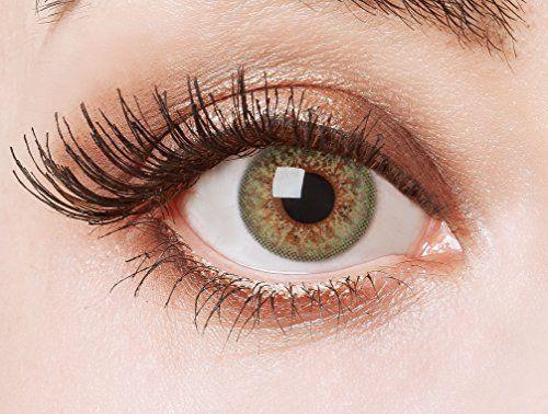 Couleur des lentilles de contact naturelles Green Glamour de aricona – ans les lentilles pas opaque à terme pour les yeux claires- sans…