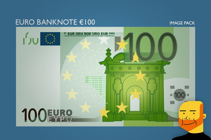 Euro Banknote €100  (Image) by Paulo Buchinho on Creative Market