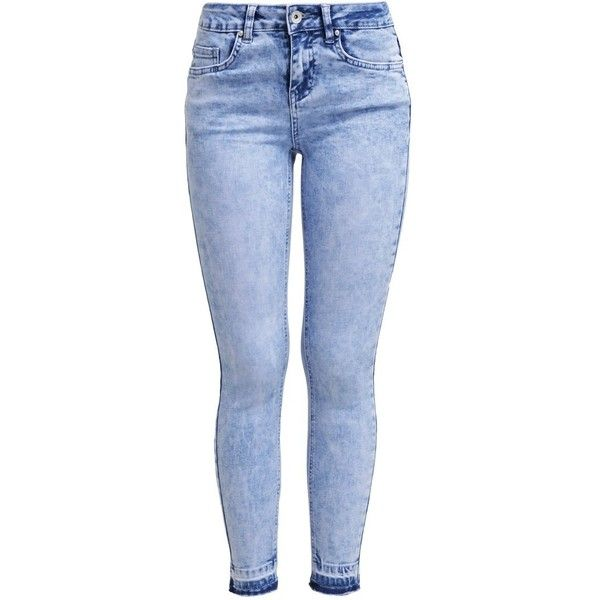 New Look JAMIE GERMAN Slim fit jeans pale blue ($35) ❤ liked on Polyvore featuring jeans, pants, bottoms, calças, pantalones, light blue, slim cut jeans, skinny leg jeans, slim fit skinny jeans and skinny fit jeans
