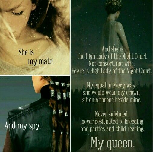 She is my mate... And my spy... My queen - ACOMAF quote