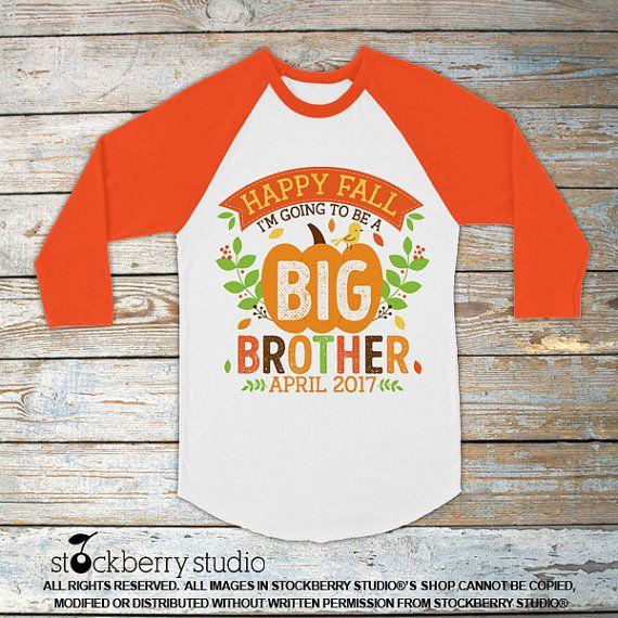 Fall Pregnancy Announcement Shirt  Fall Big by stockberryapparel