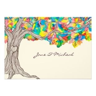 rainbow wedding invitations