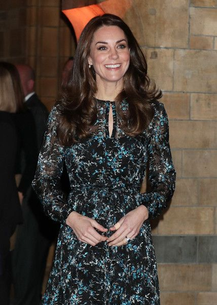Kate Middleton Photos Photos - Catherine, Duchess of Cambridge attends a children's tea party with pupils from Oakington Manor Primary School in Wembley, at the Natural History Museum  to celebrate Dippy the Diplodocus's time in Hintze Hall on November 22, 2016 in London, United Kingdom. - The Duchess Of Cambridge Attends A Tea Party In Honour Of 'Dippy' The Dinosaur At The Natural History Museum