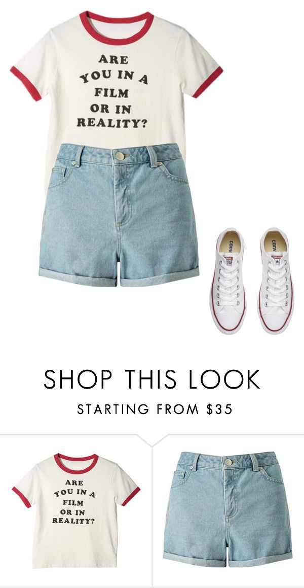 """Untitled #9"" by raven-blackk on Polyvore featuring Miss Selfridge and Converse"