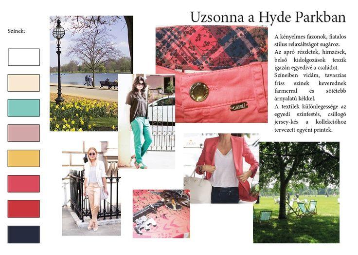Kollekció színei és hangulata, Uzsonna a Hyde Parkban