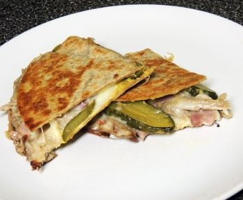 Cuban Quesadillas...great way to use up leftover pork roast.