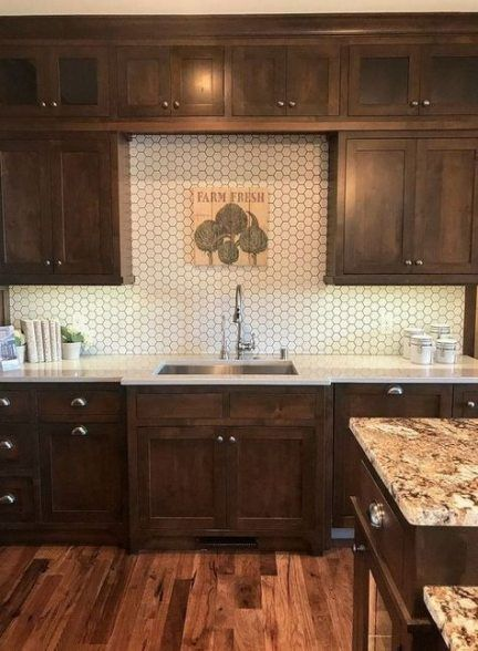Dark Wood Stain Cabinets Kitchen Makeovers 34+ Ideas # ...