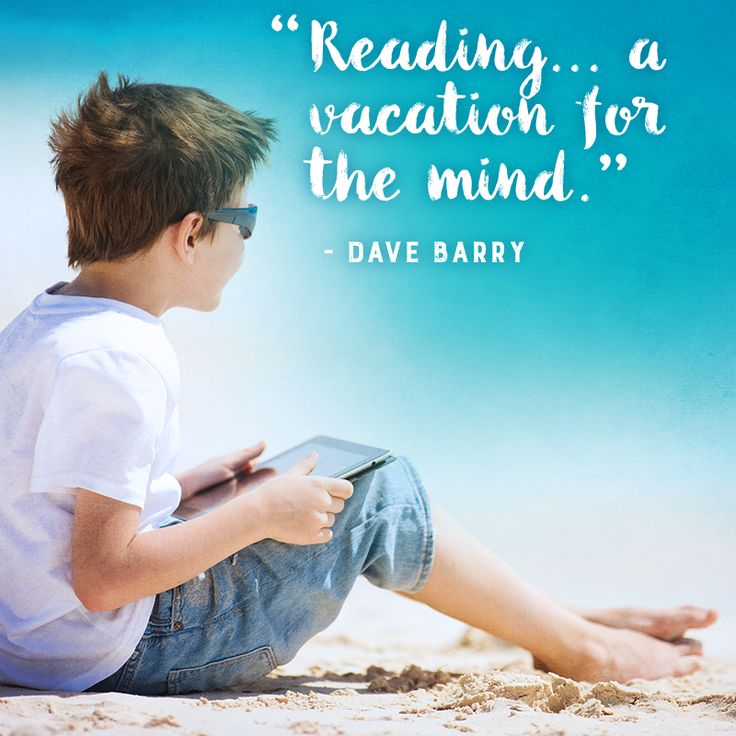 Inspirational reading quote from Dave Barry https://www.getepic.com/
