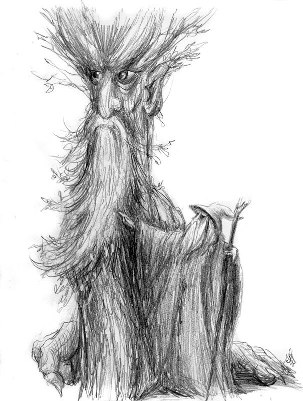'Treebeard and Gandalf' by Jef Murray