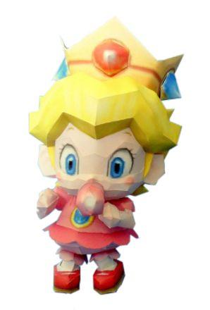 Принцесса Пич в детствe из бумаги - Papercraft