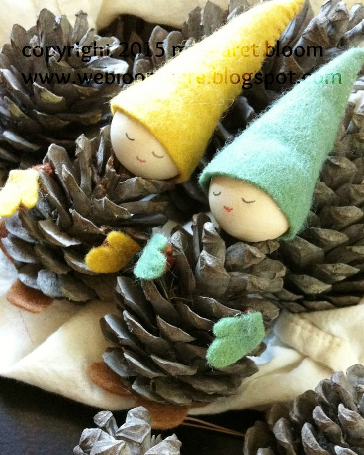 we bloom here: Pinecone Gnomes: a repost