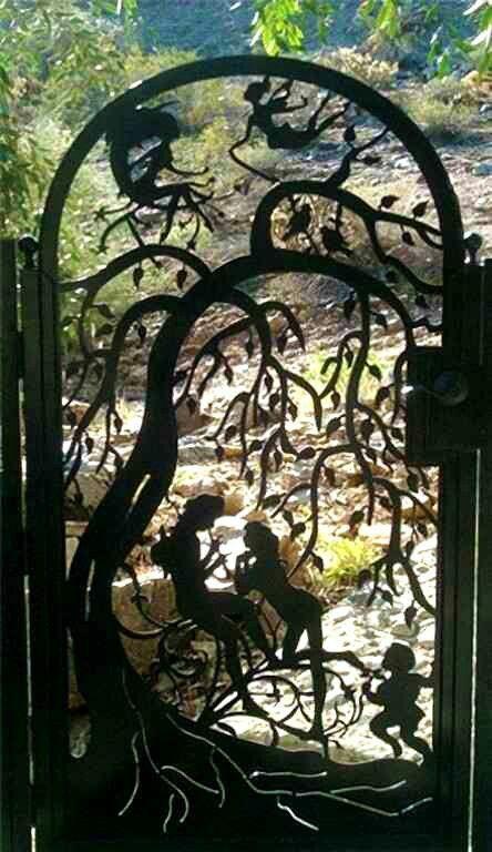 A pretty fairy story-like garden gate