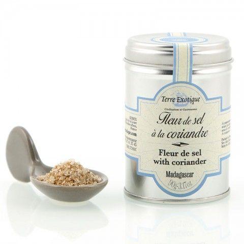 Fleur de sel à la coriandre - Fleur de sel with coriander