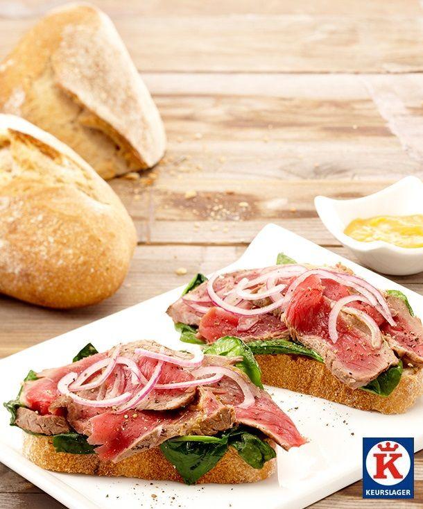 Bij de winter hoort stevige kost. Verrassende combinaties van mooi brood en mooi vlees. Een snelle stevige lunch met deze steak sandwich.
