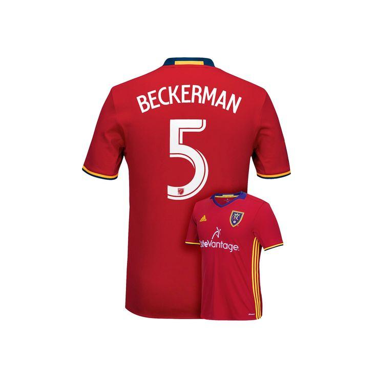 Men's Adidas Real Salt Lake Kyle Beckerman Jersey, Size: Medium, Red