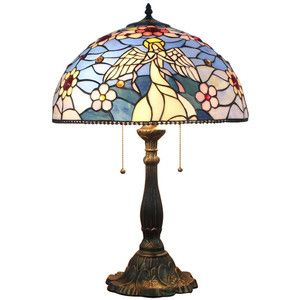Old-fashion Vintage Tiffany Stained Glass Home Table Lamp
