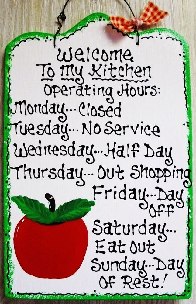 APPLE Kitchen Operating Hours SIGN Plaque Decorative Fruit Wall Art Decor  #HandcraftedbyMillerFamilyWoodcrafts #FruitSign