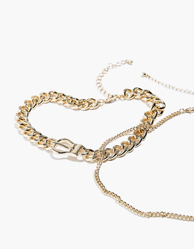 Link Buckled Chain Necklace from Bershka £7,99