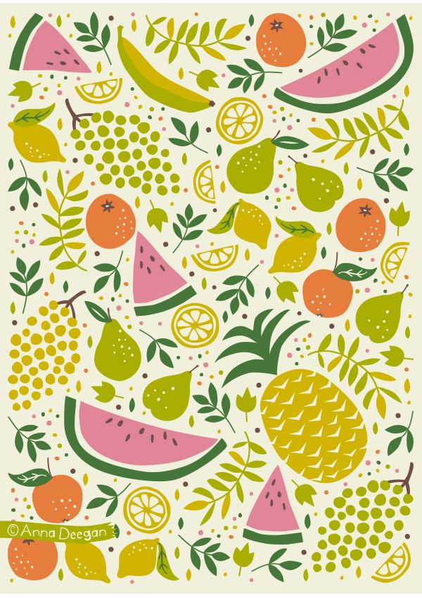 Fruit Mix by Anna Deegan, via Behance