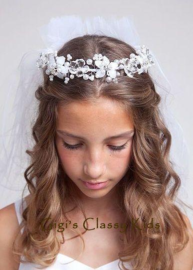 First Communion Hairstyles 9 Best Girls Hairstyle Images On Pinterest  Communion Hairstyles