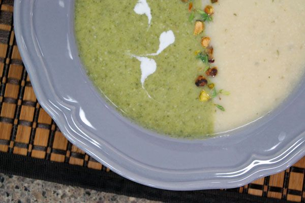 Herbed Gruyere & cauliflower soup