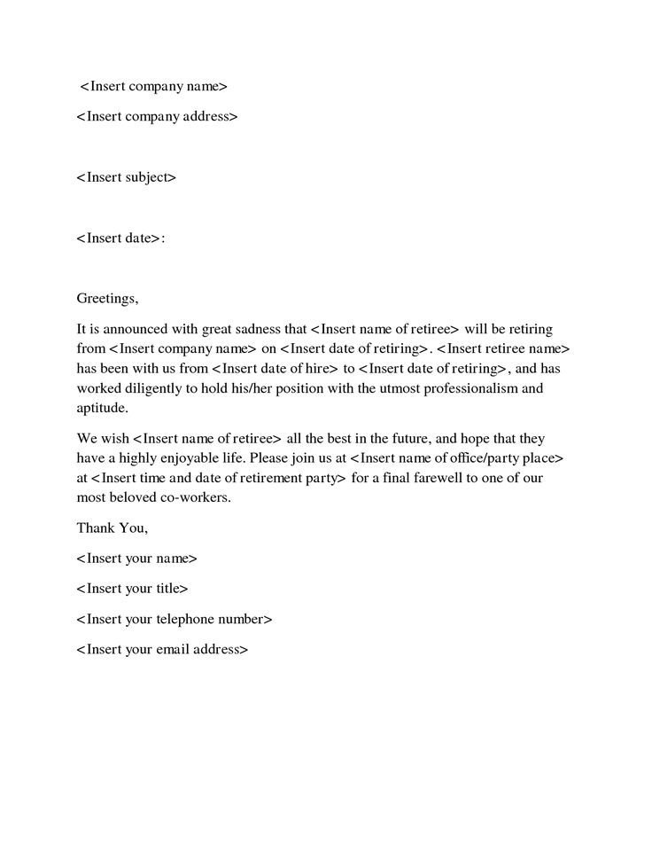Goodbye Letter to Coworker - Letters to say goodbye to co ...